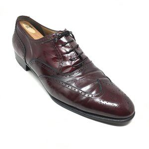 Salvatore Ferragamo Oxfords Shoes Size 11 Burgundy